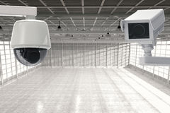 Cctv照相机在工厂 免版税库存图片