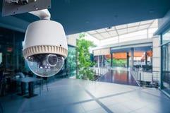 CCTV照相机操作 图库摄影