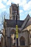 Cctv照相机教会 库存图片