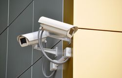 CCTV照相机 图库摄影