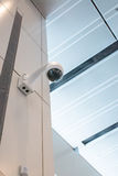 Cctv-Überwachungskamerawanddecke Lizenzfreie Stockbilder