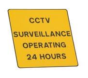 Cctv-Überwachungszeichen stockfoto