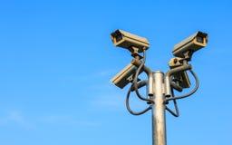 CCTV τέσσερα στοκ εικόνα με δικαίωμα ελεύθερης χρήσης