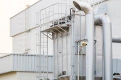 CCTV камеры слежения для фабрики Стоковое Фото