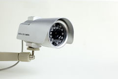 CCTV. Camera on white background stock image