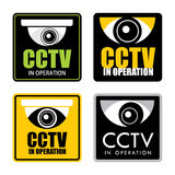 Cctv. Set of surveillance CCTV signs, vector