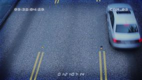 CCTV From Above Busy Roads stock video footage