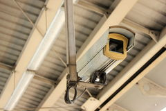 CCTV at airport interlink train station Royalty Free Stock Photo