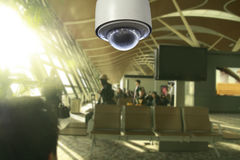 CCTV in airport terminal Royalty Free Stock Photography