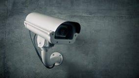 CCTV außerhalb der Gebäude-Blinklicht-Schleife stock footage