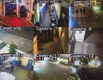 Cctv-bildskärmskärm Fotografering för Bildbyråer