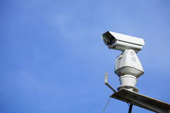 CCTV with blue sky Royalty Free Stock Photos