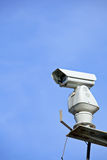 CCTV with blue sky royalty free stock image
