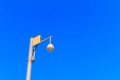 Cctv with blue sky background. Stock Images