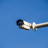 Cctv on blue sky Stock Photography