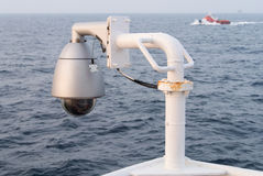 CCTV. On boat use for looking around royalty free stock photography