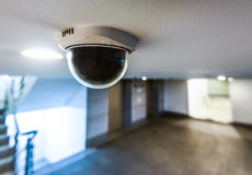 CCTV in building in front of elevator Royalty Free Stock Photos