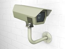 CCTV camera. 3D render of a CCTV camera Royalty Free Stock Image