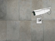 CCTV camera. On a concrete wall. High quality 3d illustration Royalty Free Stock Image
