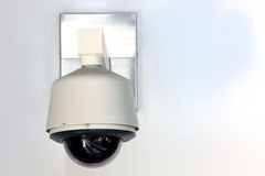 CCTV Camera. On the Wall stock photo