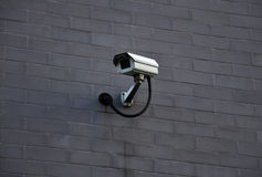 Cctv Camera. In the wall stock photography