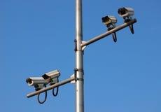 Cctv Camera. Over blue sky Royalty Free Stock Photo