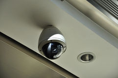 Cctv Camera. On the building royalty free stock photos