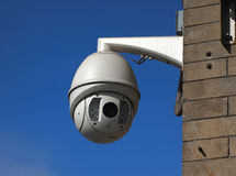 Cctv Camera. Over blue sky stock photo
