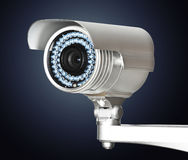 Cctv camera. Fine image of classic cctv infrared security camera on white royalty free stock images