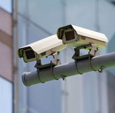 CCTV camera. It is a CCTV camera ,outdoor royalty free stock images