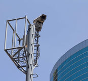CCTV camera. It is a CCTV camera ,outdoor stock photography