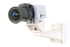 Cctv camera. In white background stock photos