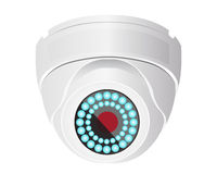 CCTV camera. On the ceiling Royalty Free Stock Photo