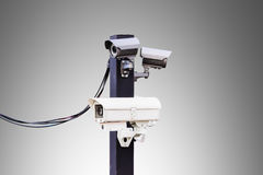 Cctv camera  with clipping path Royalty Free Stock Photography