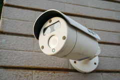 CCTV camera. Close up CCTV camera on the wall Stock Photography