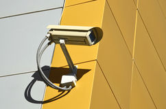 CCTV camera on the cone Stock Image