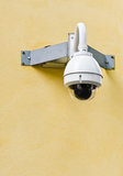 CCTV camera at the corner of the building Stock Photos