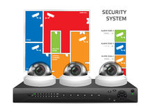 CCTV camera and DVR - digital video recorder - security system Stock Photography