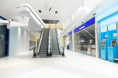 CCTV camera in the elevator lobby, ATM banknote office building Stock Image