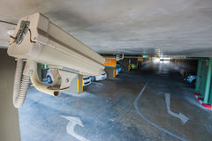 CCTV camera in garage of building Royalty Free Stock Image