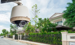 CCTV Camera. With house in background Stock Photo