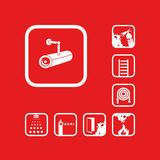 Set of isolated vector icons. Graphic pictograms vector illustration