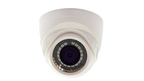 CCTV Camera. Indoor CCTV Camera White Background Stock Images