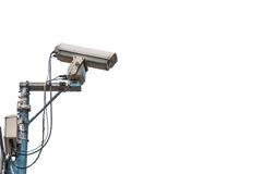 Cctv camera isolated. On white background Royalty Free Stock Photography