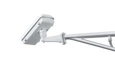 CCTV camera isolated on white background with clipping path. S Royalty Free Stock Photography