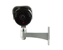 Cctv camera isolated on white background. Cctv(closed circuit television) camera isolated on white background royalty free stock image