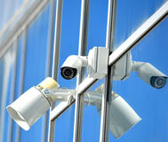 CCTV camera and loudspeaker Stock Photography