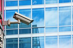 Cctv camera office security system Royalty Free Stock Image