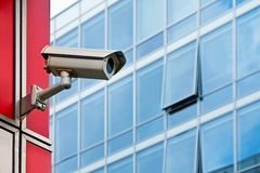 Cctv camera office security system Stock Image