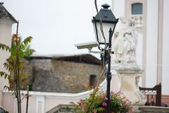 CCTV camera in the old Town. Stock Photo